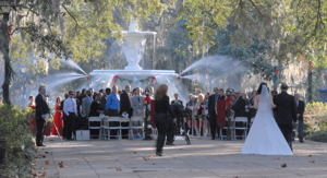 Destination Weddings, like this wedding in Forsyth Park in Savannah, include helping guests with lodging suggestions / Wedding in the Park, Savannah, Georgia (c) 2008 Ted Grellner